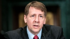 PHOTO: Richard Cordray, nominee for director of the Consumer Financial Protection Bureau, testifies at a confirmation hearing before the Senate Committee on Banking, Housing and Urban Affairs, March 12, 2013, in Washington.