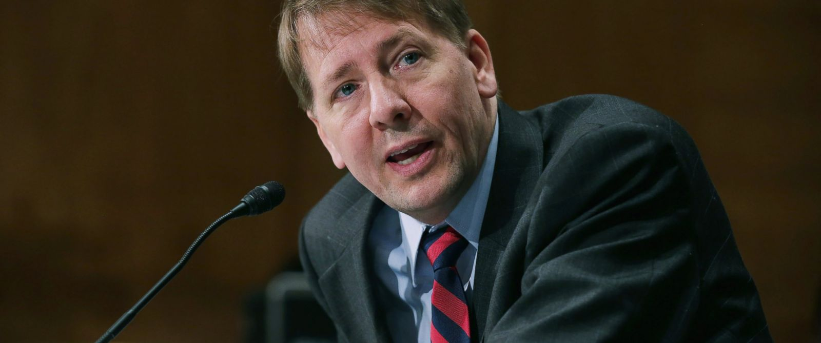 PHOTO: Consumer Financial Protection Bureau Director Richard Cordray testifies before the Senate Banking, Housing and Urban Affairs Committee on Capitol Hill, June 10, 2014 in Washington, DC.