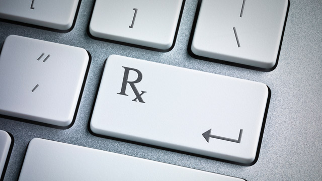 PHOTO: Rx on computer keyboard