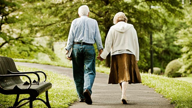 PHOTO: Senior couple walking