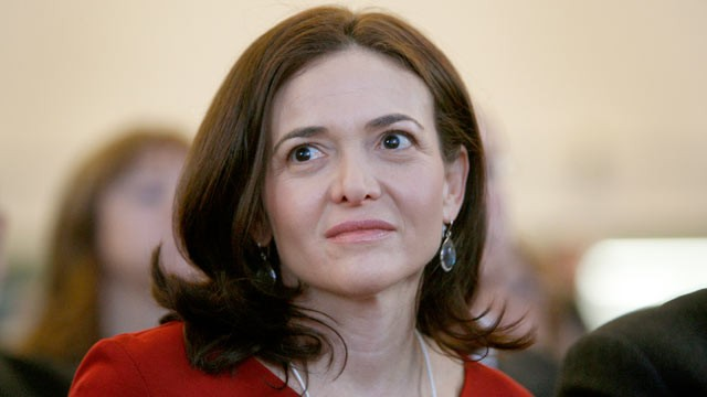 PHOTO: Sheryl Sandberg, chief operating officer of Facebook Inc., sits in the audience ahead of German Chancellor Angela Merkel's opening address on day one of the World Economic Forum (WEF) in Davos, Switzerland, Jan. 25, 2012.