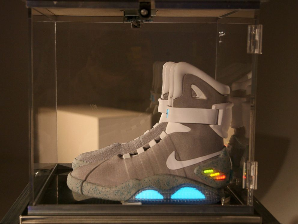 PHOTO: A general view of atmosphere as a pair of Nike limited edition sneakers are auctioned off at the Nike MAG Berlin auction at the Delight Studios on Sept. 17, 2011 in Berlin.