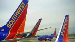 PHOTO: Southwest Airlines passenger planes are seen at Chicago's Midway Airport in Illnois May 31, 2012.