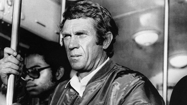 "PHOTO: Actor Steve McQueen is seen during the shooting of his last movie ""The Hunter,"" in 1980."
