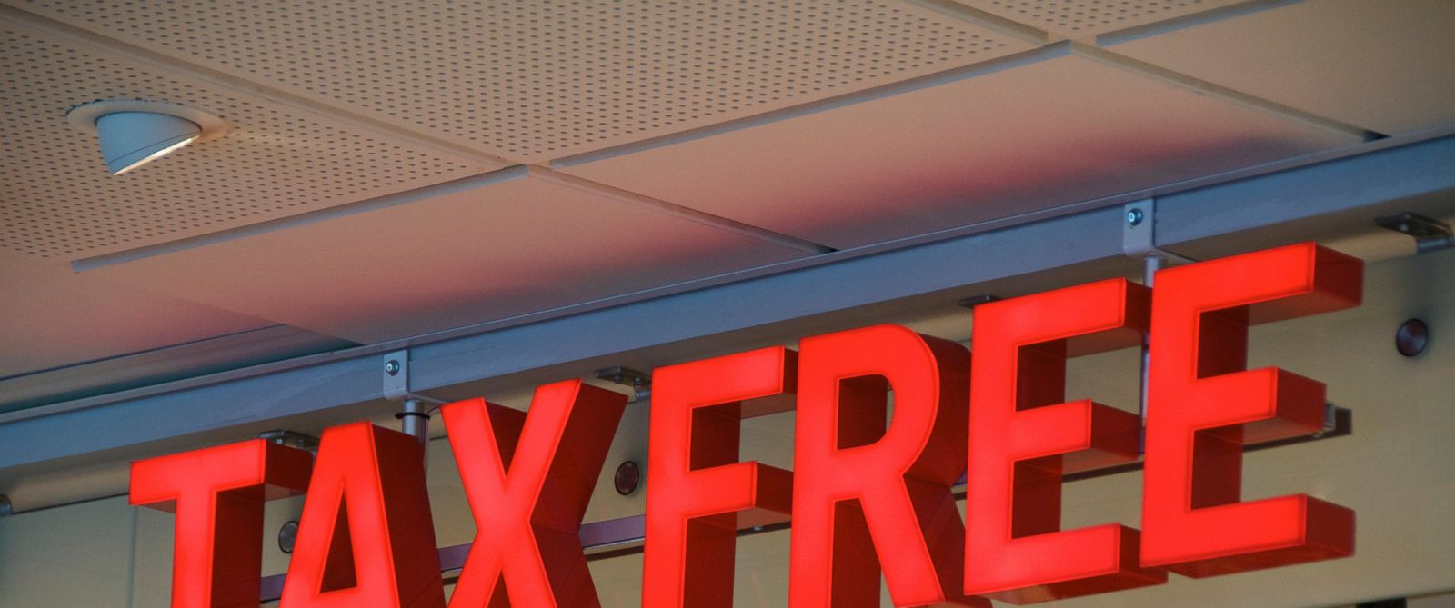 PHOTO: A tax free sign is seen in this undated file photo.