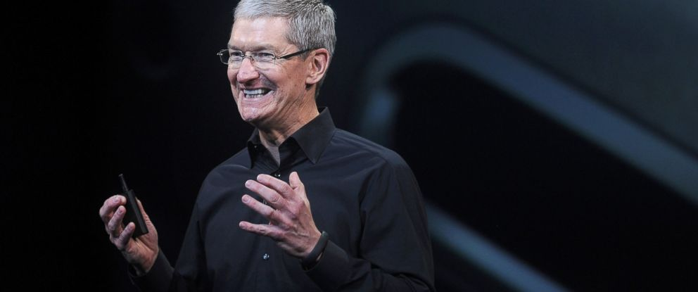 PHOTO: Tim Cook, chief executive officer of Apple Inc., speaks during a press event at the Yerba Buena Center in San Francisco, California, Oct. 22, 2013.