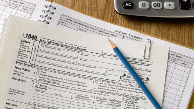 PHOTO: Form 1040, U.S. Individual Income Tax Return.