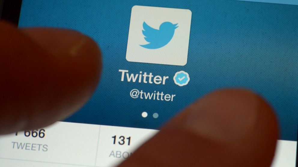 PHOTO: A Nov. 7, 2013, shows an official Twitter account on a smartphone.