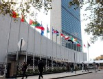 PHOTO: The United Nations Secretariat building is seen in New York City.