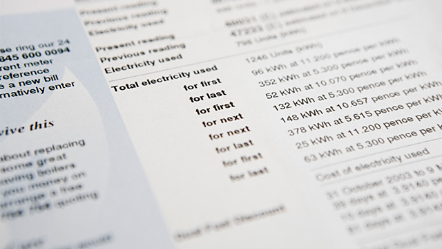 PHOTO: Electricity bill