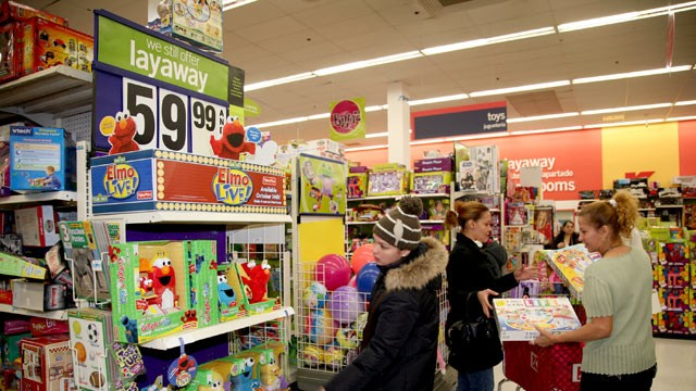 PHOTO: Shoppers look for bargains at a Kmart store, Nov.17, 2008, Bronx, New York City. Retailers such as Kmart are seeing a resurgence in the use of layaway plans to help consumers during the current difficult falling economy.
