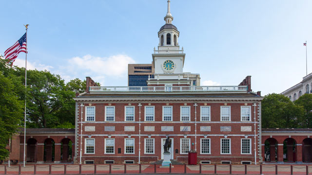 PHOTO: North facade of Independence Hall in Philadelphia, Pennsylvania is seen in this undated stock photo.