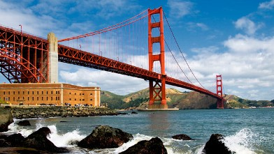 PHOTO: The Golden Gate Bridge in San Francisco is seen in this undated stock photo.