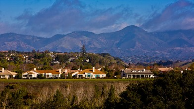PHOTO: A winter storm passes through wine country leaving the sky blue on December 26, 2012, in Solvang, California.