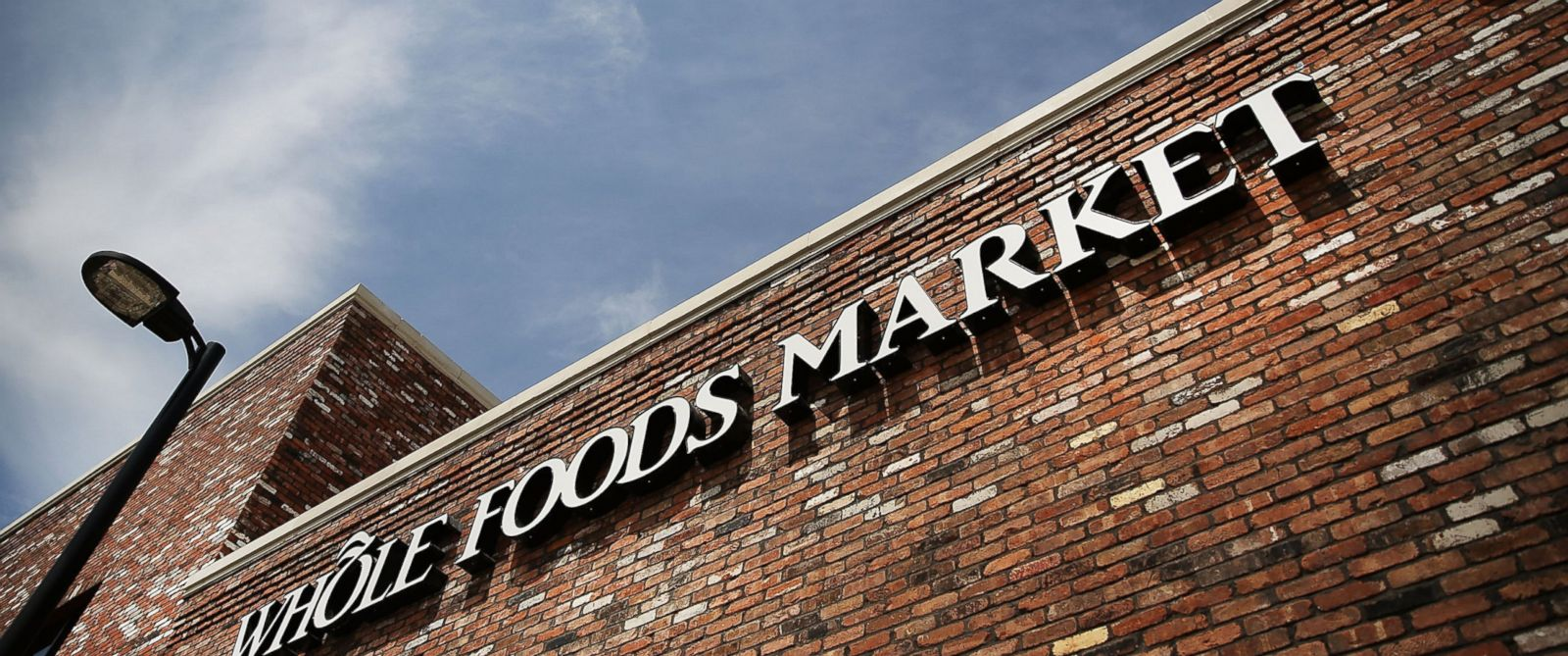 PHOTO: A sign for a Whole Foods Market is viewed in Brooklyn on May 7, 2014 in New York.