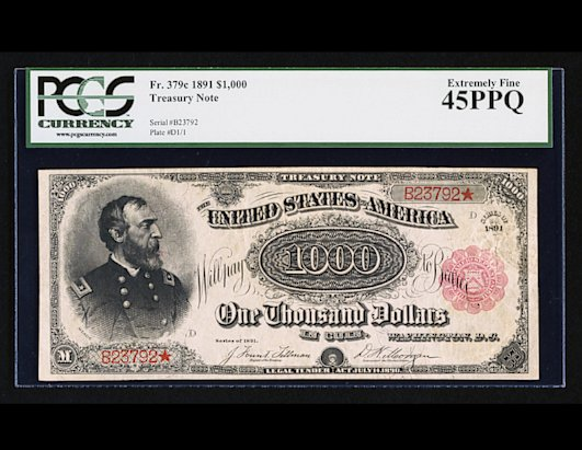 $1,000 Bill Sells for $2.5 Million