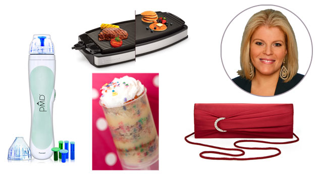 PHOTO: CakeShooter, PMD, Wolfgang Puck Grill & Griddle, and Ideeli clutches.