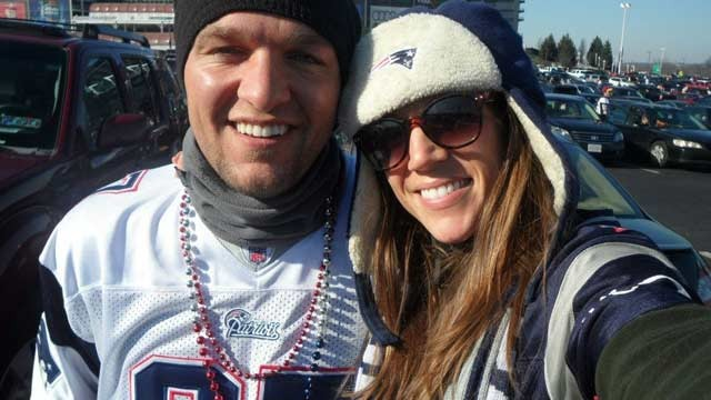 PHOTO: Dante Cassiani and his girlfriend, Michelle Gaudet, from Massachusetts are driving 950 miles in an RV with friends to Indianapolis in the hope of getting tickets to the Super Bowl.