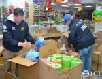 PHOTO: Immigration and Customs Enforcement agents search for toxic goods in this handout photo; the agency was recently involved in the indictment of 5 men from Queens, NY for importing toys and other goods from China that contained high levels of lead.