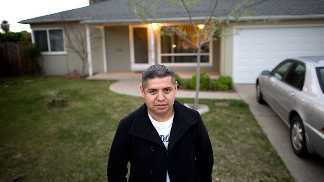 PHOTO: Oscar Trejo, pictured here at his current home in San Jose, said he had never heard of Heritage Pacific before it asked a judge not to discharge its $88,000 claim against him.