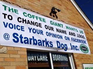 Starbucks Growls Over Dog Shop Logo