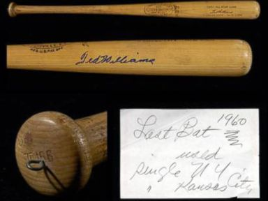 PHOTO: Ted Williams Last All-Star Game Bat On Auction Block