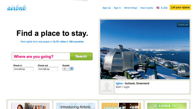 PHOTO: AIRBNB connects people who have space to spare with those who are looking for a place to stay.