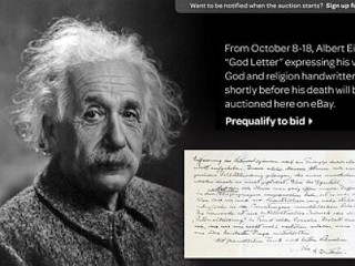 Photos: Einstein Letter Refuting God on EBay