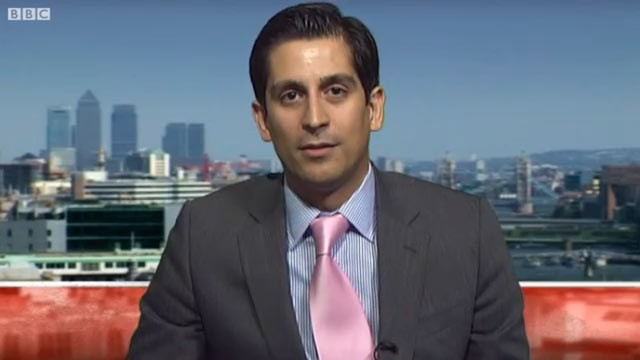PHOTO: Alessio Rastani appears on BBC, Sept. 26, 2011.