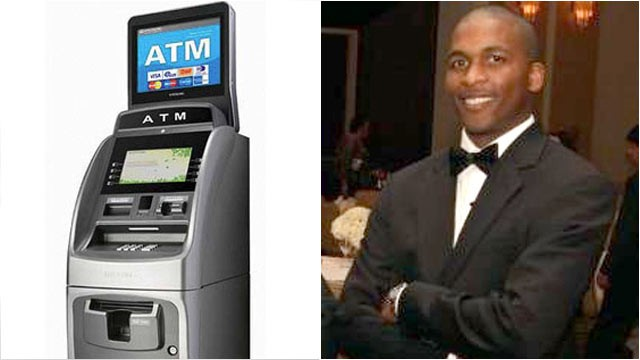 PHOTO: Founder Clinton Townsend of Free ATMs NYC, released a 15-inch LCD monitor above ATMs with advertisements that allow people to skip the ATM surcharge.