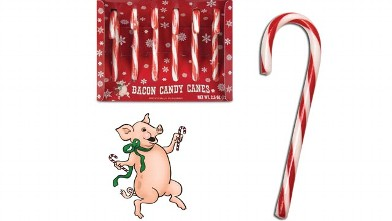 PHOTO: Bacon flavored candy canes.