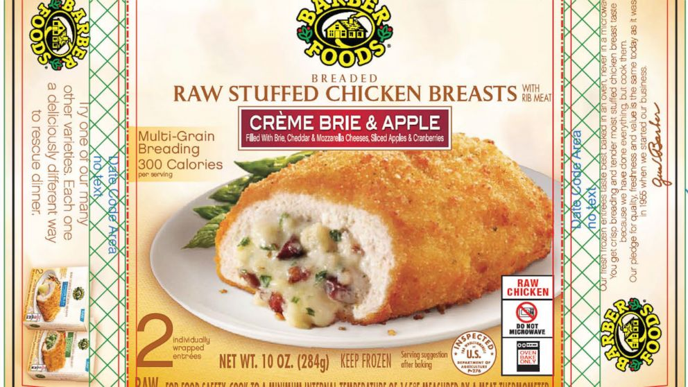 Barber Foods Expands Stuffed Chicken Products Recall - ABC News