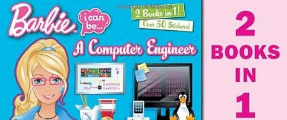 PHOTO: Barbie I Can Be A Computer Engineer and Barbie I Can Be An Actress books available on Amazon