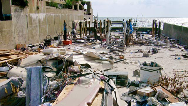 PHOTO: Brad Ganas home destroyed by Hurricane Ike