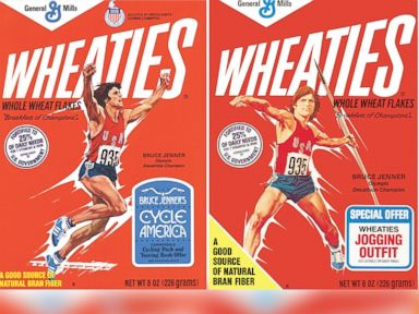 PHOTO: Bruce Jenner is pictured in the artwork from a set of classic Wheaties cereal boxes.