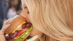 PHOTO: Pictured is a still from the Carls Jr. ad.