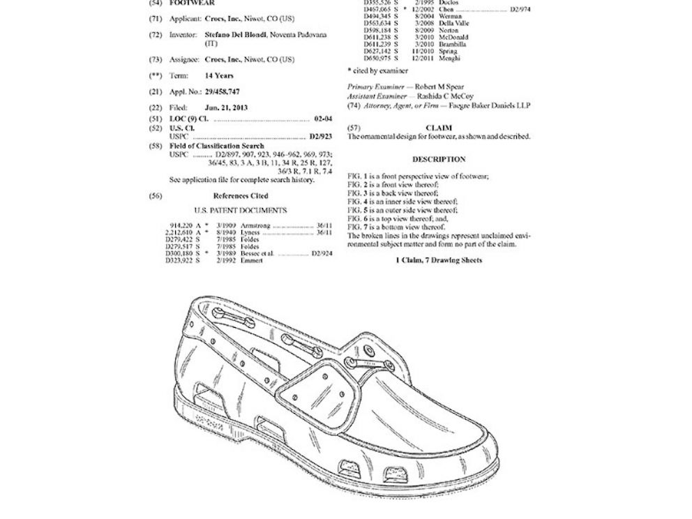 PHOTO: A new loafer being patented by Crocs.
