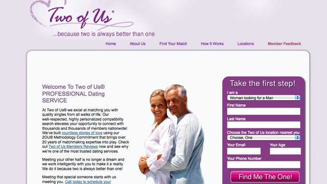 PHOTO: Two of Us is a matchmaking service with 15 offices nationwide.