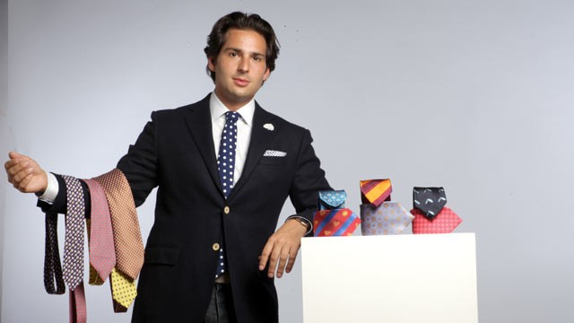 PHOTO: CEO David Goldbergs company, FreshNeck, offers men a subscriptions to ties.