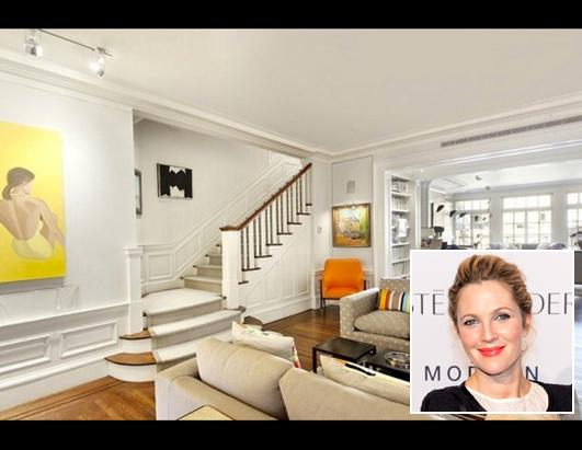 Drew Barrymore Buys in NY,  Sells in Calif.