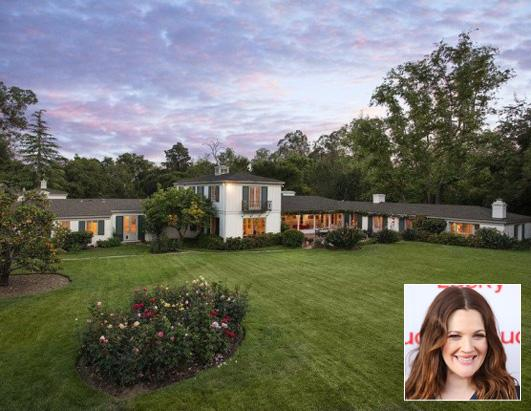 Drew Barrymore cuts price of Santa Barbara home