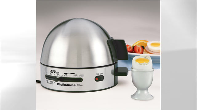 PHOTO: Chefs Choice Gourmet Egg Cooker tries to fill the void in the kitchen of cooking boiled and poached eggs.