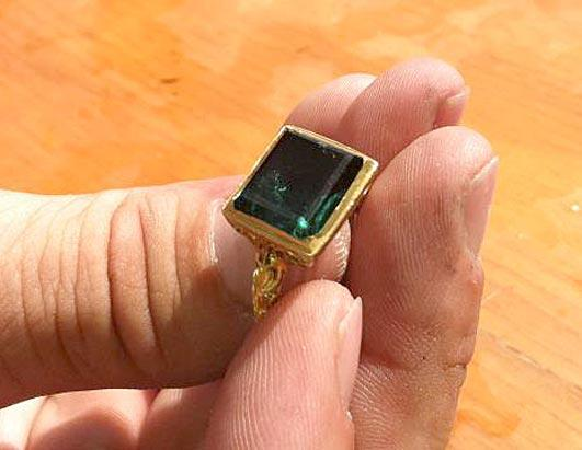 Emerald Ring Found in Wreckage