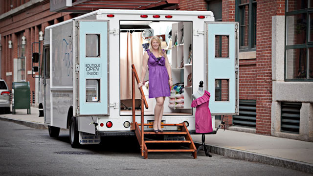 PHOTO: Emily Benson, whose mobile boutique, the Fashion Truck, does business in Boston.