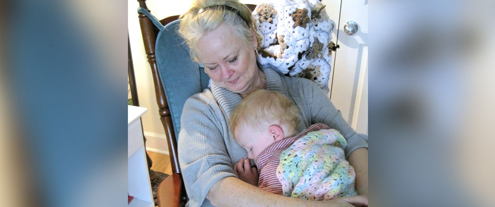 PHOTO: Emily Phillips with a grandchild.