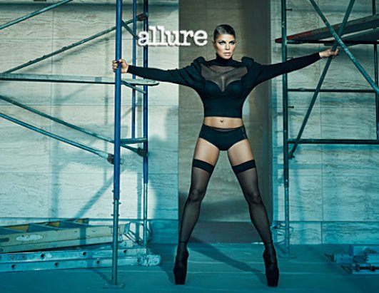 Fergie In Racy Stocking and Underwear for Allure