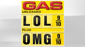 PHOTO Gas price signs poke fun at the recent rise in prices as seen in this flickr.com images.