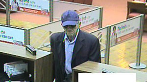 Photo: Geezer bandit robs 13th bank