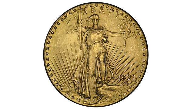 PHOTO: The Saint-Gaudens double eagle, a twenty-dollar gold coin, or double eagle, produced by the United States Mint from 1907 to 1933.