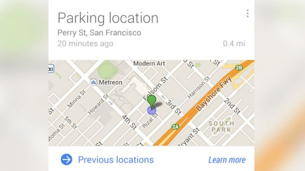 ht google parking kab 140502 16x9 608 Where Did I Park? Google Knows